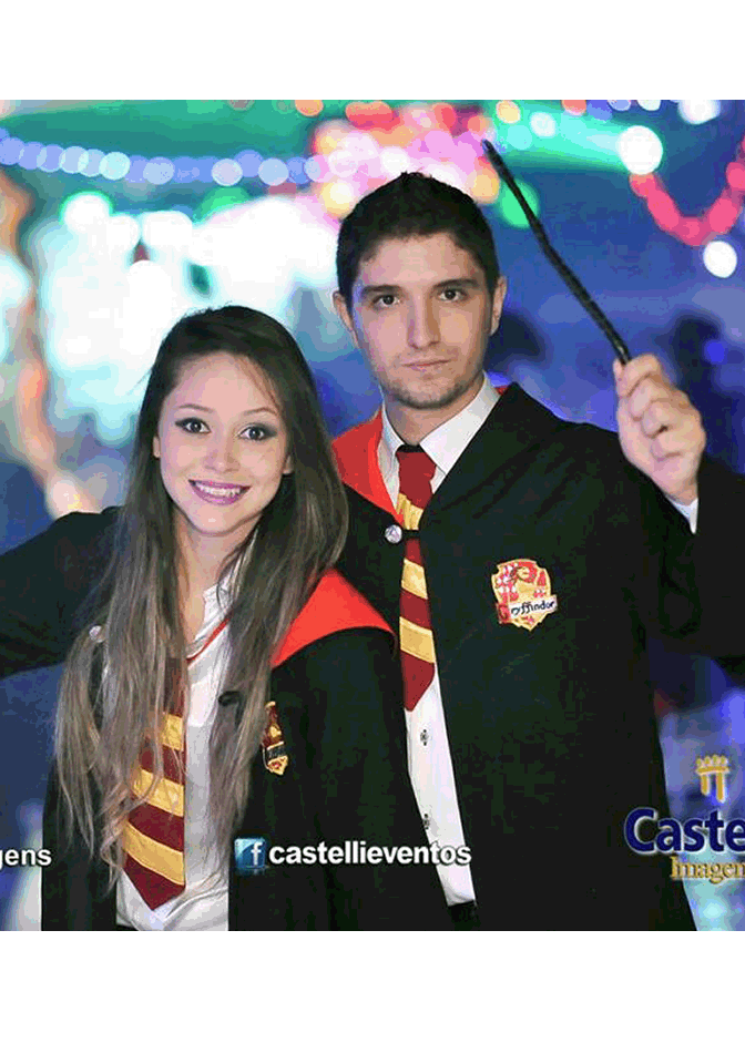Hermione E Harry Potter Castelo Fantasias