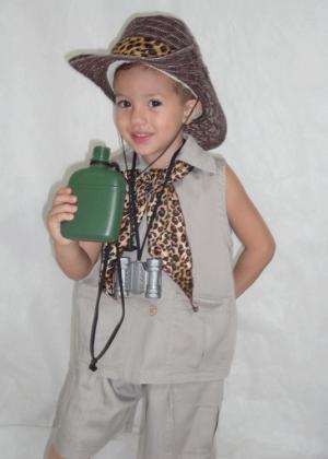 Caçador Safari 4 – Profissão – Masculino – Infantil – caqui