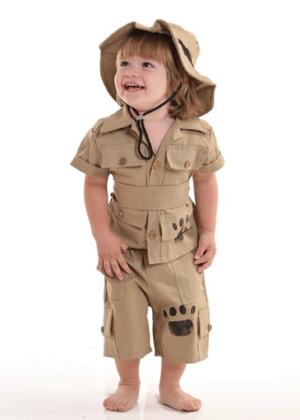 Caçador safari baby – Personagem – Profissão – Masculino – Infantil – Caqui