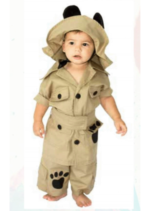 Caçador safari luxo – Personagem – Profissão – Masculino – Infantil – Caqui