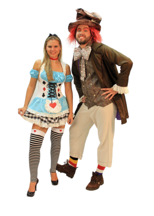 Casal Alice e Chapeleiro – Personagem – adulto