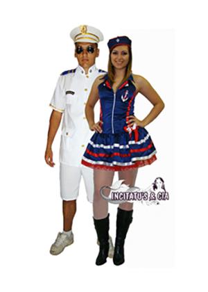 Casal Capitão Marinha curto – Profissão – Adulto