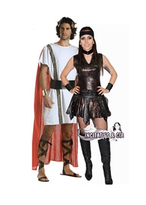 Casal Gladiador Guerreiro – Época – Nação – Adulto