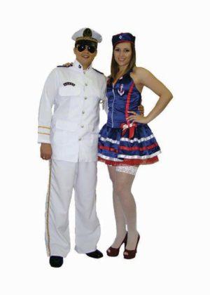 Casal capitão e marinheira – Profissão – Adulto
