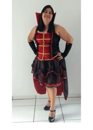 Condessa Lia – Halloween – Feminino – Adulto – Preto