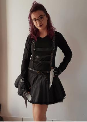 Eduarda Mãos de Tesoura 501 – Personagem – Halloween – Feminino – Adulto – Preto