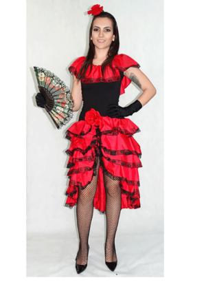 Espanhola longa – Nação – Feminino – Adulto – Vermelho