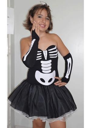Esqueleta – Halloween – Feminino – Adulto – Preto