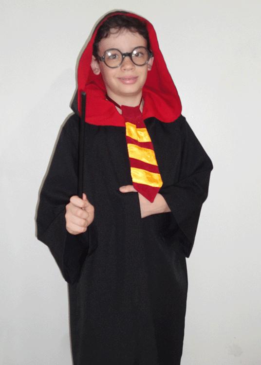 Harry Potter – Personagem – Halloween – Masculino – Infantil – Preto