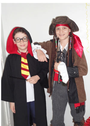 Harry Potter e Jack Sparrow – Personagem – Halloween – Masculino – Infantil – Preto