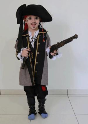 Jack Saprrow baby – Personagem – Halloween – Masculino – Infantil – Preto