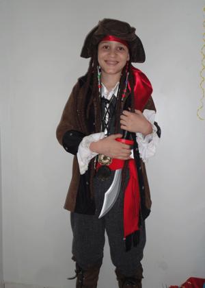 Jack Sparrow 10 – Personagem – Halloween – Masculino – Infantil – Preto