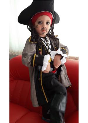 Jack Sparrow 3 – Personagem – Halloween – Masculino – Infantil – Preto