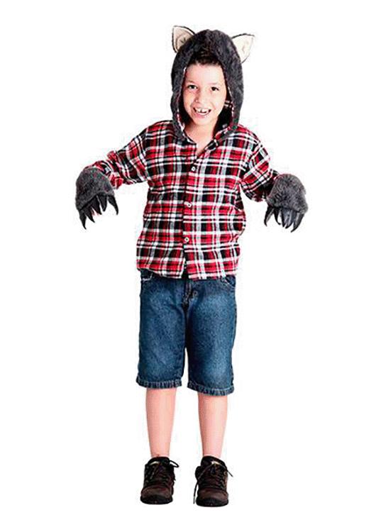 Lobo Mau – Personagem – Halloween – Masculino – Infantil – Preto