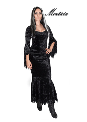 Morticia Adams – Personagem – Halloween – Feminino – Adulto – Preto