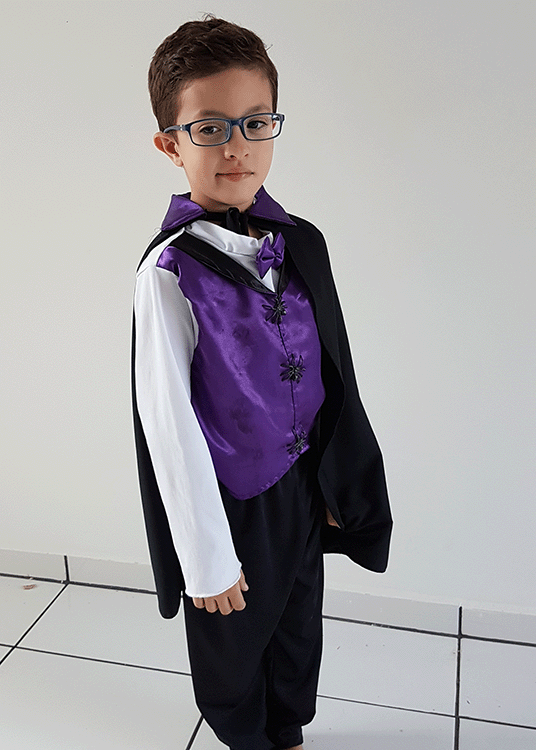 Vamipirinho – Halloween – Masculino – Infantil – Roxo
