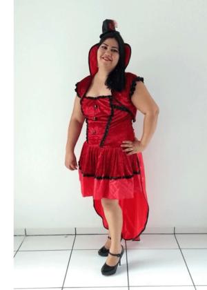 Vampira Bella Mary – Halloween – Feminino – Adulto – Vermelho