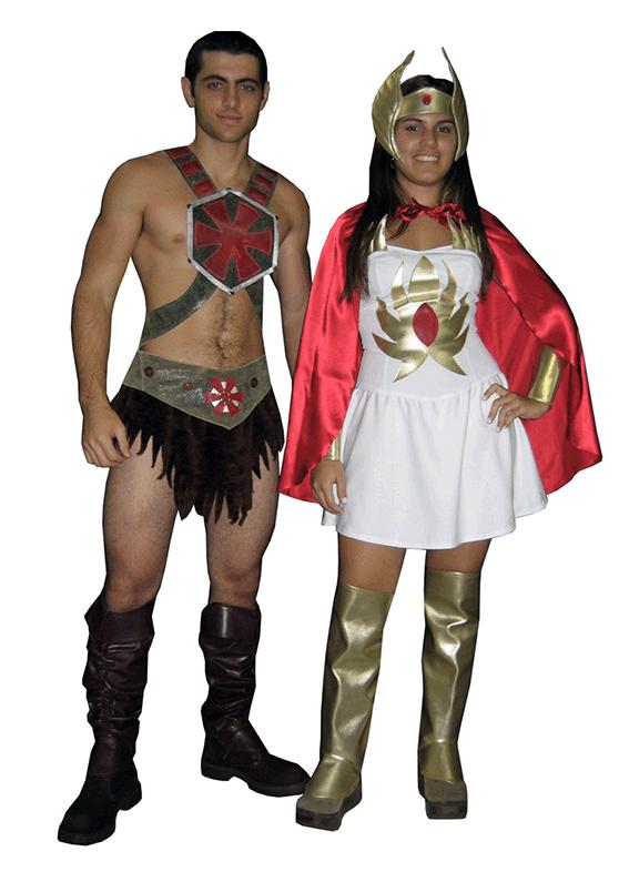 He man e She ra – Grupo – Fantasia para alugar – Castelo Fantasias – Uberlandia